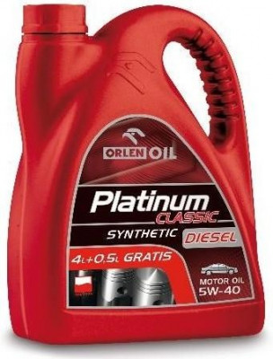 PLATINUM CLASSIC DIESEL SYNTHETIC 5W-40 4,5L