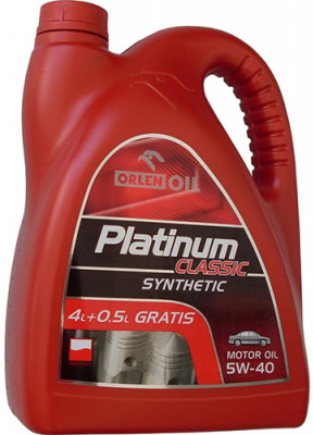 PLATINUM CLASSIC GAS SYNTHETIC 5W-40 4,5L